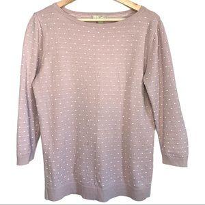 Loft 100% Cotton Swiss Dot Sweater